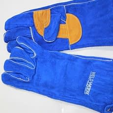 Reinforced Palm Kevlar Stitch Blue Welders Gloves